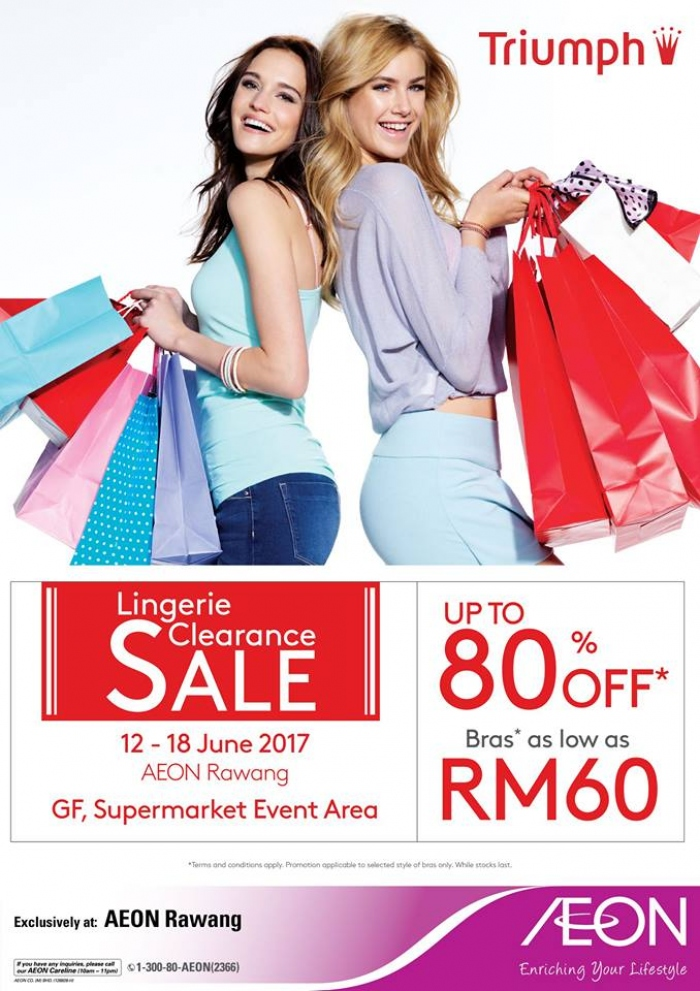 AEON Triumph Branded Clearance Sale - Up To 80% OFF