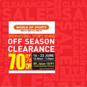World Of Sports Off Season Clearance - Save Up To 70%