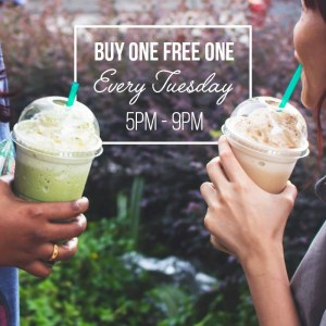 Starbucks Tuesday Delights - Frappuccino Buy One Free One