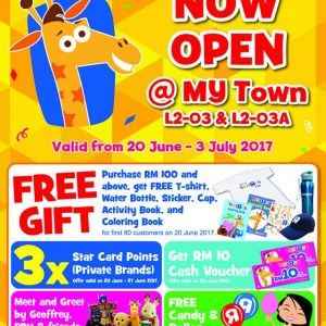 Toys R Us MyTown Opening Specials - Free Gift Free Voucher