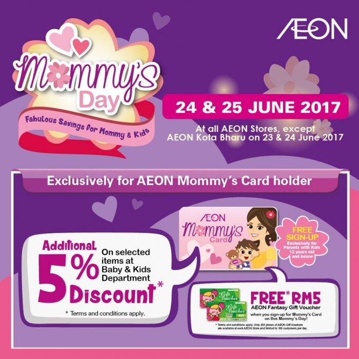 AEON Mommy's Day Specials