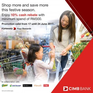 Use CIMB Cards To Spend Above RM300 at GCH Stores To Get 10% Cash Rebate
