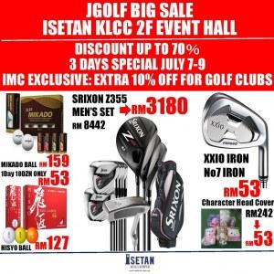 Jgolf Big Sale @ Isetan KLCC - Discounts Up To 70%