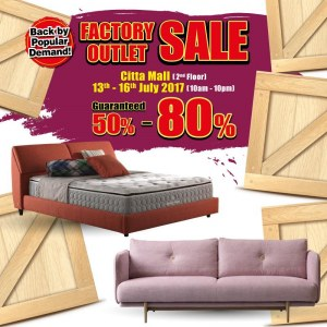 Harvey Norman Factory Outlet Sale 50% - 80% OFF