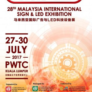 28th Malaysia International Sign & LED Exhibition - Sign & LED 2017
