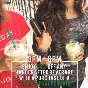 Starbucks Friday Delights - 50% OFF 2nd Handcrafted Beverage