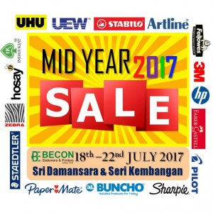 Becon Stationery Mid Year Sale 2017