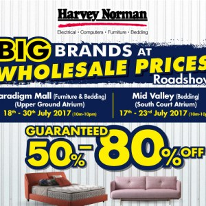 Harvey Norman Big Brands at Wholesale Prices Roadshow