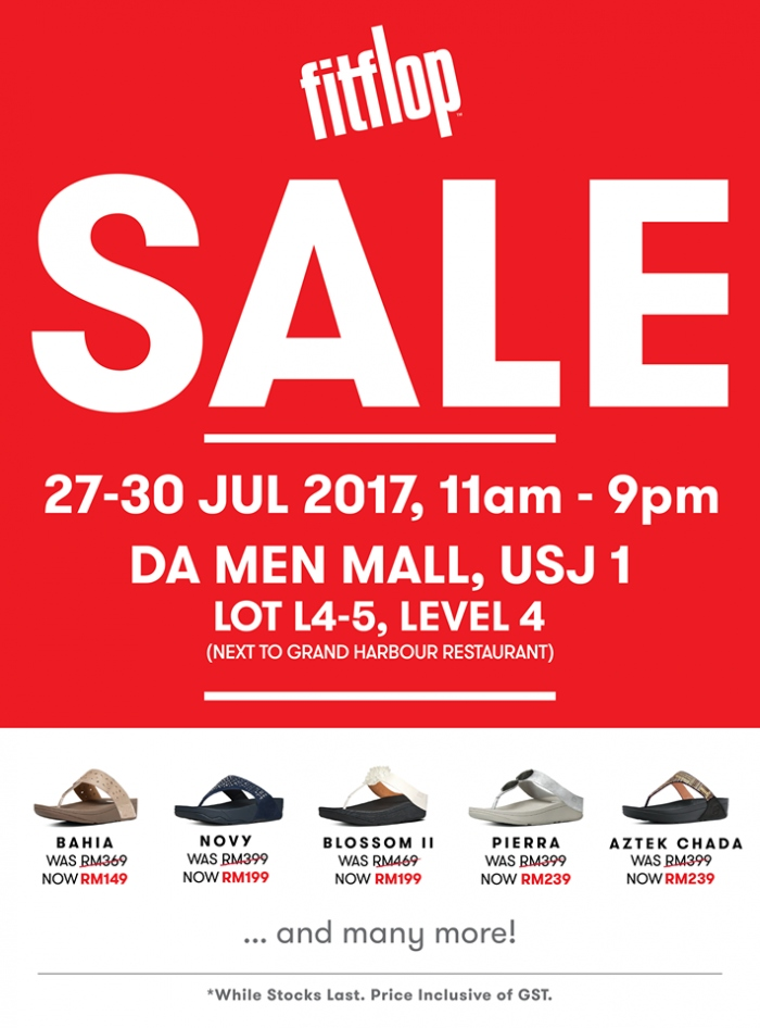 Fitflop Sale @ Da Men Mall @ USJ 1