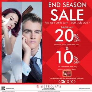 G2000 End of Season Sale @ Metrojaya