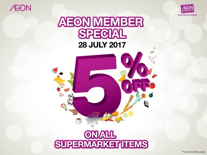 AEON Member Special - 5% OFF All Supermarket Items