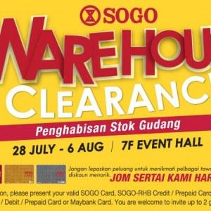 Sogo Warehouse Clearance - Penghabisan Stok Gudang Julai 2017