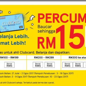 Tesco Clubcard Members Free Voucher For Purchase Above RM100