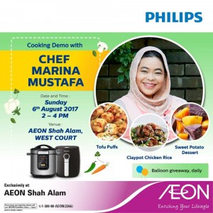 Cooking Demo with Chef Marina Mustafa