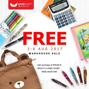 Unicorn Stationery Warehouse Sale - Up To 80% OFF