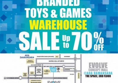 Branded Toys & Games Warehouse Sale - Up To 70% OFF