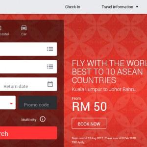 AirAsia ASEAN 50th Anniversary Air Fare Sale - Fly From RM50 All-In-Fare