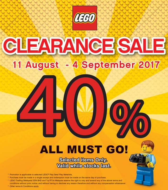 Toys R Us Lego Clearance Sale - Up To 40% OFF