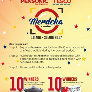 Pensonic Tesco Merdeka Contest - Shop & Win