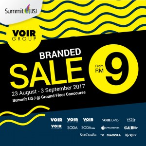VOIR Group Branded Warehouse Sale - From RM9