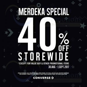 Converse Merdeka Special - 40% OFF Storewide