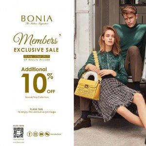 Bonia Members' Exclusive Sale - Sogo Cardmembers Additional 10% OFF