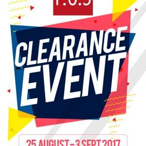 F.O.S Clearance Sale @ Fashion Court The Curve