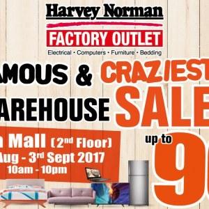 Harvey Norman Famous & Craziest Warehosue Sale - 90% OFF