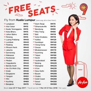AirAsia 5 Million Free Seats Promotion 2017