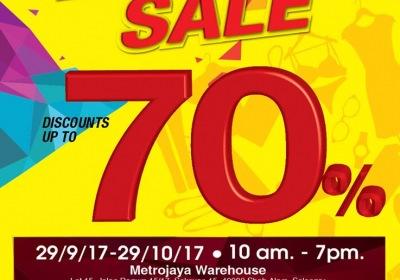 Metrojaya Warehouse Sale - Discounts Up To 70%