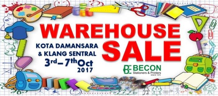 Becon Stationery Warehouse Sale @ Kota Damansara & Klang Sentral
