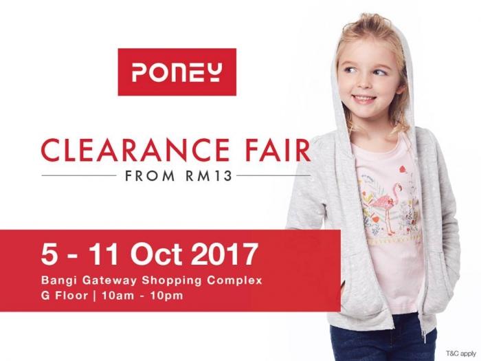 Poney Clearance Fair - Sale From RM13 (Bangi)