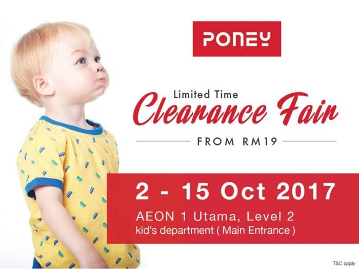 Poney Clearance Fair - Sale From RM19 (1 Utama)