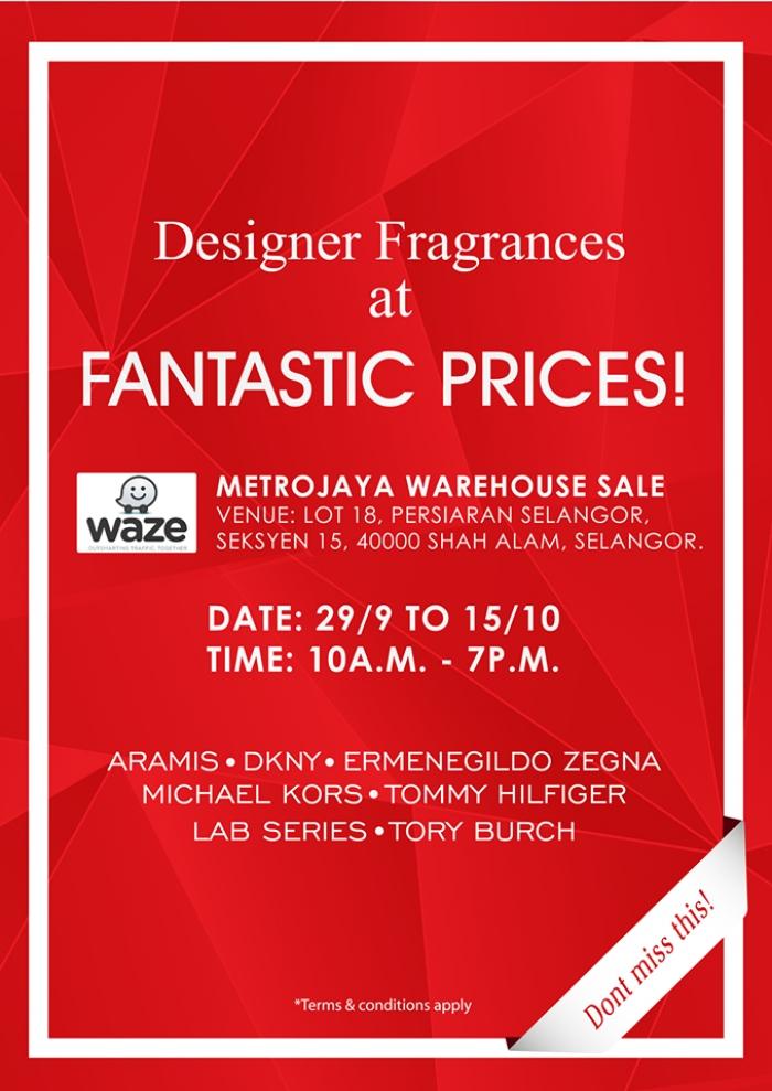 Designer Fragrances at Fantastic Prices @ Metrojaya Warehouse Sale