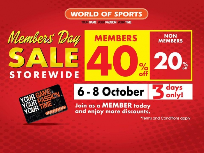 World Of Sports Members' Day Sale - Save Up To 40%