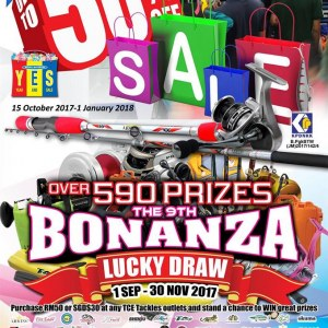 TCE Tackles Year End Sale + Bonanza Lucky Draw