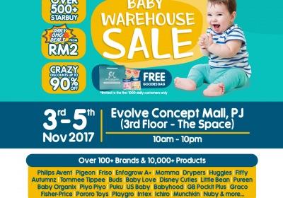 Motherhood.com.my Warehouse Sale: 3-5 Nov 2017 @ Evolve Concept Mall (3rd Floor)