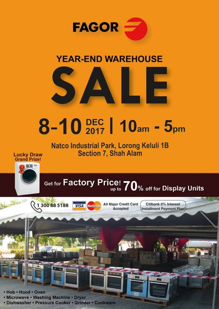 Fagor Year-End Warehouse Sale - Save Up To 70%