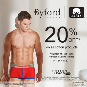 20% OFF Byford London Cotton Items @ Parkson Subang Parade