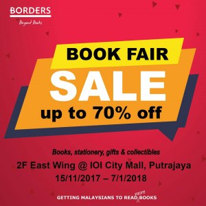 Borders Book Fair - Sale Up To 70% OFF