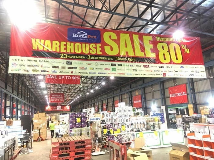 HomePro Warehouse Sale - Discounts Up To 80%