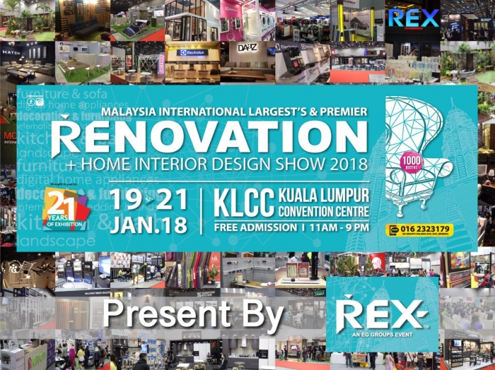 Malaysia International REX Home Renovation & Interior Design Show 2018 - REX Expo 2018
