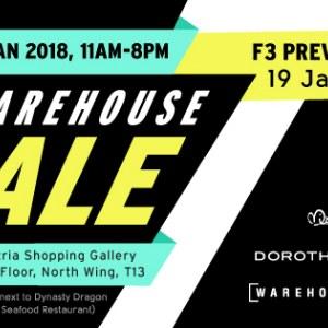Fashion Fast Forward - F3 Malaysia Warehouse Sale