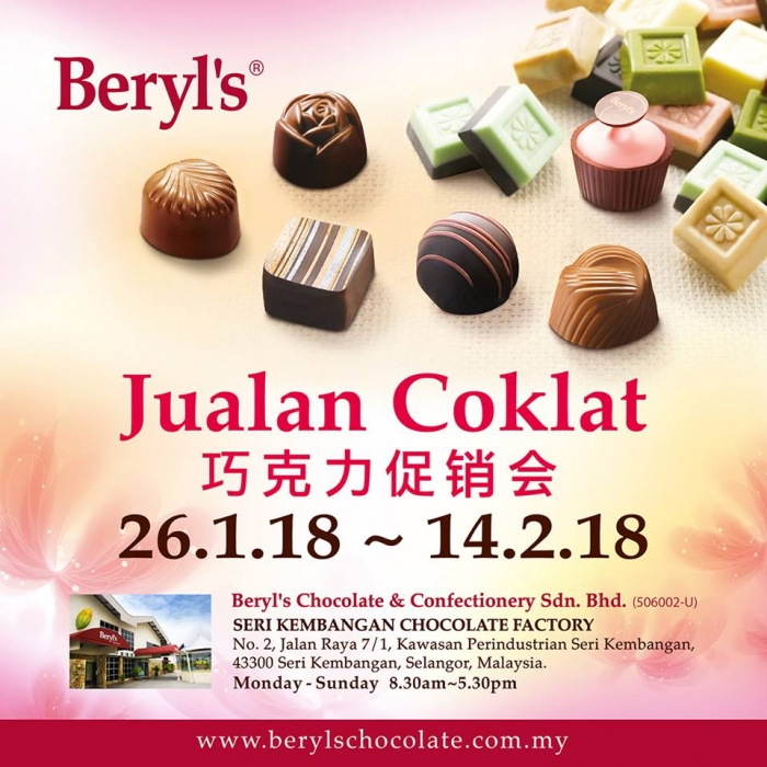 Beryl's Chocolate Chinese New Year Sale 2018