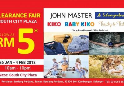 Baby Kiko South City Clearance Fair - As Low As RM5