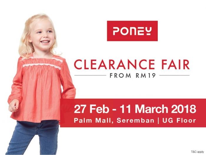 Poney Clearance Fair - Sale From RM19 (Seremban)