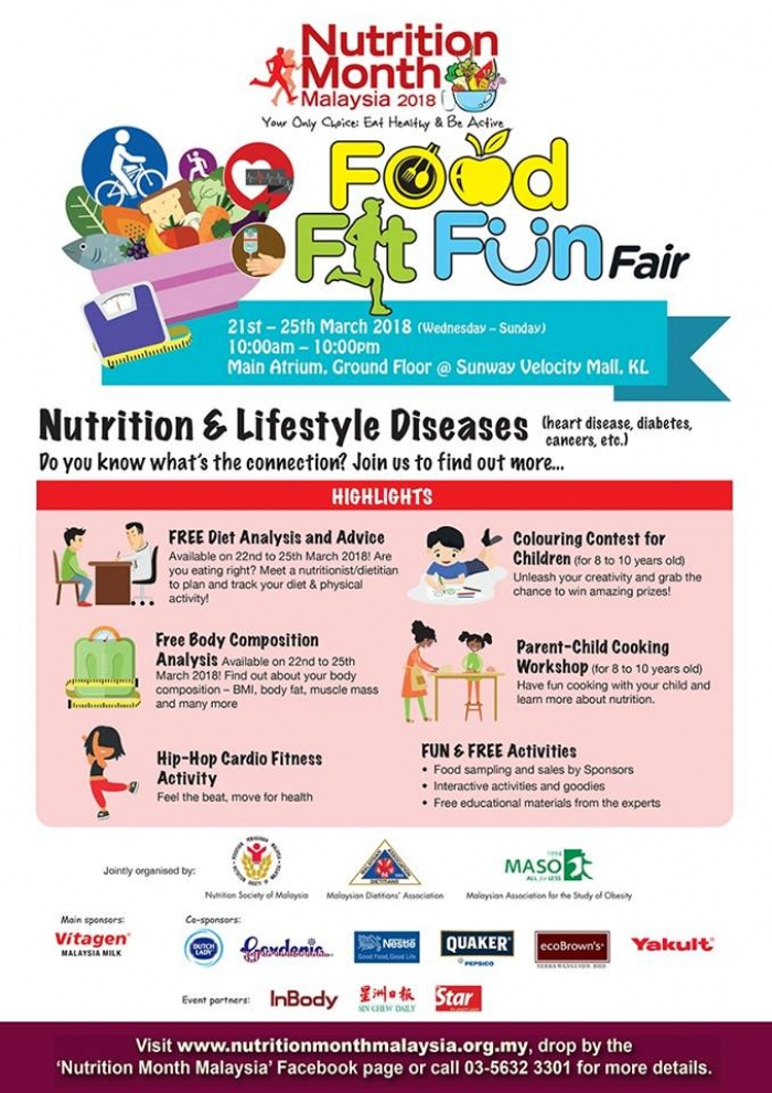 Food Fit Fun Fair - Nutrition Month Malaysia 2018