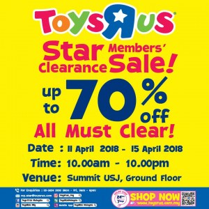Toys R Us Star Members Clearance Sale - Up To 70% OFF