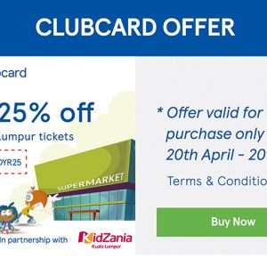 Enjoy 25% OFF Kidzania Kuala Lumpur Tickets with Tesco Clubcard