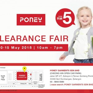 Poney Warehouse Sale - As Low As RM5